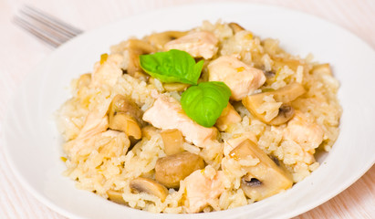 Rice with Chicken and Mushrooms