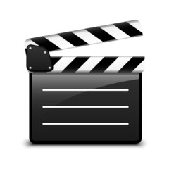 Vector clap board icon