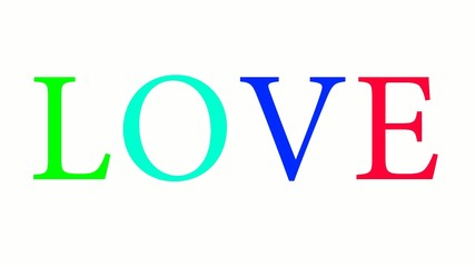 Love word background