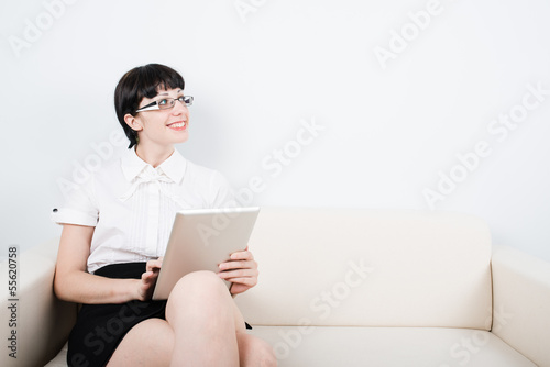 Secretary with tablet