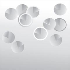 Abstract Vector Background. Web Pattern with Grey Spheres
