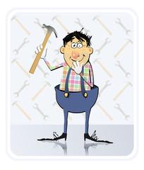 Repairman With Hammer