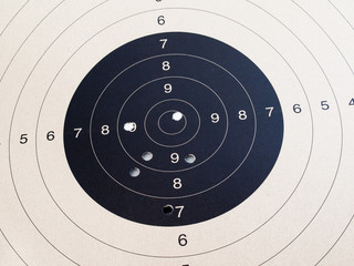 Close up of target shooting