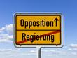 Wechsel von der Regierung zur Opposition