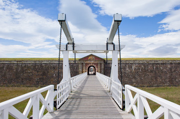 Fort George entrance bridge