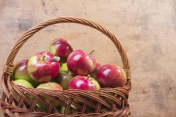 apples in a wicker basket