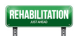 rehabilitation road sign illustration design