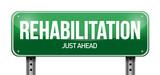 rehabilitation road sign illustration design poster