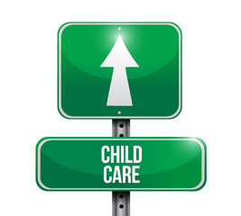 child care road sign illustration design