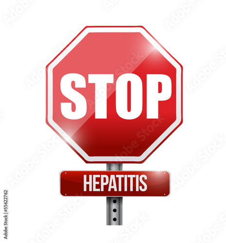 stop hepatitis road sign illustration design