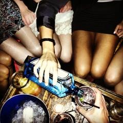 Serving a glass