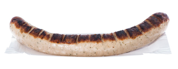 German Bratwurst (on white)