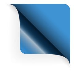 Papier - Ecke oben gerundet blau