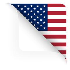 Papier - Ecke oben gerundet - Länderflagge USA