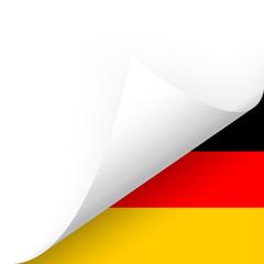 Papier - Ecke unten - Länderflagge Deutschland