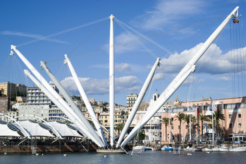 The panoramic elevator called Bigo, Genoa-Italy