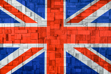 Uk Flag on a wooden Background