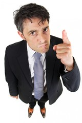 Portrait of a dogmatic businessman