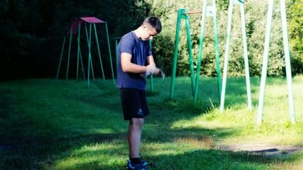 Boy engaged in athletic exercises episode 2