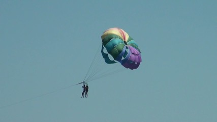 parachute Paragliding to the sea