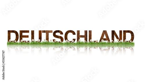 Deutschland, Holzbuchstaben