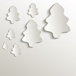 christmas tree natural paper 3D