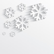 christmas snowflake white paper 3D