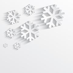 christmas snowflake white paper 3D