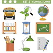 Vector School Icons Set 3