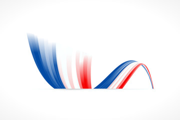 Abstract waving English and French flag