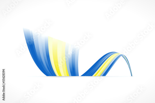 Abstract Swedish waving flag isolated on white background