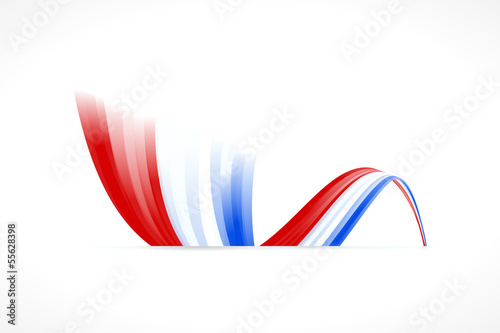 Abstract Dutch waving flag isolated on white background