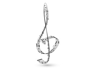 Musical stylised    treble clef