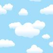 Leinwandbild Motiv Seamless Clouds and Sky