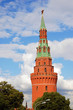 Moscow Kremlin tower. Blue sky background.
