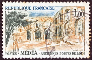 Roman gates of Lodi at Algeria (France 1961)