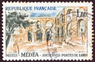 Roman gates of Lodi at Algeria (France 1961)