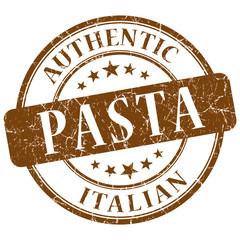 pasta brown grunge stamp