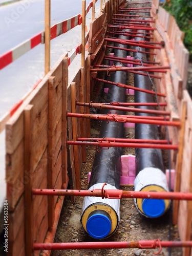 Fotobehang Kanaal Rohrleitungbau