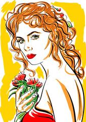 femme rousse