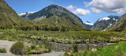 Bergkette an der Milford Road
