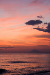 The sky and the sea at sunset, Peloponnese, Greece