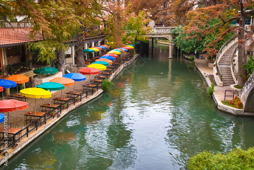 Staande foto Texas River Walk in San Antonio Texas