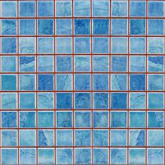 blue mosaic decoration tile wall texture background