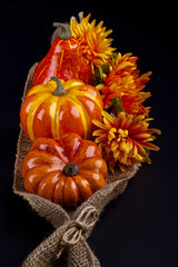 Thanksgiving decoration on a black background