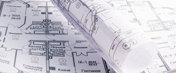 Architectural plans for the roll