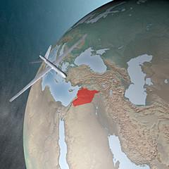 Mondo terra globo Medio Oriente Siria drone aereo