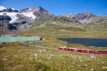 St Moritz, Switzerland - August 14, 2013: From Tirano part of th