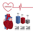 infographics of cardiology design