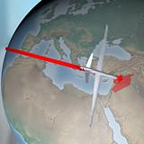 Mondo terra globo Medio Oriente Siria drone aereo poster